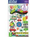 Sticko 184 Pack Flip Stickers-Road Trip