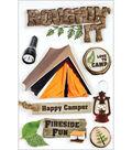 Paper House Camping 3-D Stickers-Roughn\u0027 It