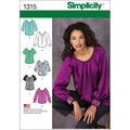 Simplicity Pattern 1315R5 14-16-18-2-Misses Tops Vests