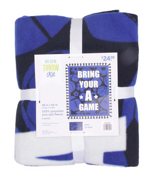 No Sew Fleece Throw Kit-Bring Your A Game