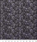 Keepsake Calico Cotton Fabric 43\u0022-Spiral Flowers Black