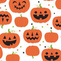 Maker\u0027s Halloween 60\u0027\u0027 Round Tablecloth-Pumpkins & Jack-o\u0027-lanterns