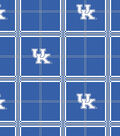 University of Kentucky Wildcats Flannel Fabric 42\u0022-Plaid