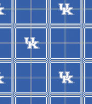 "University of Kentucky Wildcats Flannel Fabric 42""-Plaid, , hi-res"