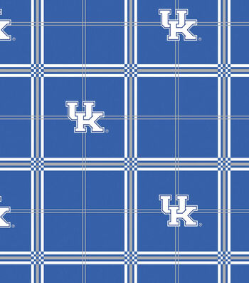 "University of Kentucky Wildcats Flannel Fabric 42""-Plaid"