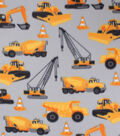 Blizzard Fleece Fabric-Gray Construction