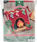 Bucilla Christmas 19.5\u0027\u0027x19\u0027\u0027 Felt Hanging Applique Kit-Fireside Glow