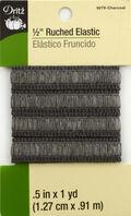 Dritz 1/2\u0022 Ruched Elastic Charcoal 1Yd