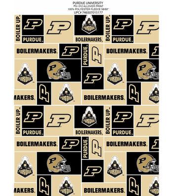 Purdue University Boilermakers Fleece Fabric 58''-Block