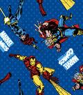 Marvel Comics Avengers Flannel Fabric 42\u0027\u0027-Retro Comics Power Up