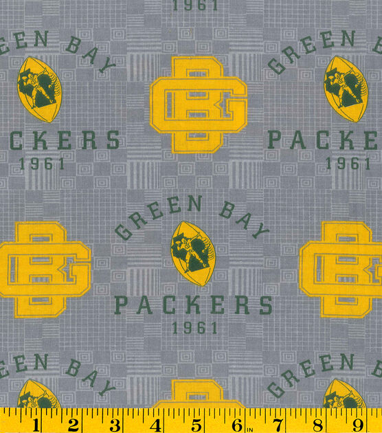 Green Bay Packers Retro Nfl Gray Cotton