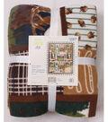 No Sew Fleece Throw 72\u0022-Wild Animal Patch