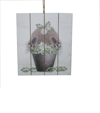 Easter Wall Decor-Floral & Bunny