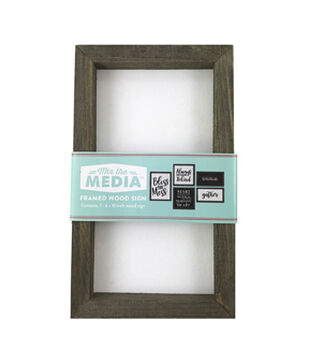 Mix the Media 6''x10'' Rustic Wood Frame
