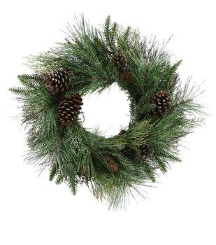 Handmade Holiday Christmas Cedar Pine & Pinecone Wreath
