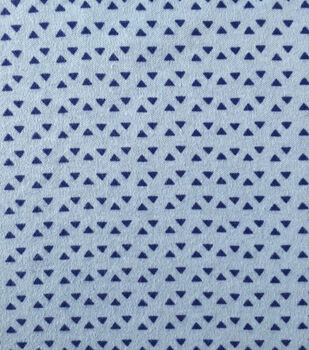 Doodles Juvenile Apparel Fabric 57''-Blue Tiny Triangles