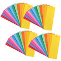 Bright Blank Bookmarks, Assorted Colors, 100 Per Pack, 4 Packs