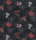 Texas Tech University Red Raiders Flannel Fabric 42\u0022-Distressed Logo