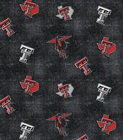 "Texas Tech University Red Raiders Flannel Fabric 42""-Distressed Logo, , hi-res"