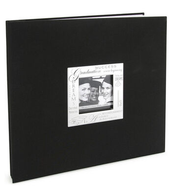 "MBI Expressions Post Bound Album w/Window 12""X12""-Graduation - Black"