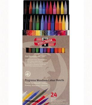 Progresso Woodless Color Pencils 24 Set