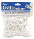Darice Craft Designer Pony Beads-White