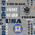 Coast Guard Fleece Fabric-Heather Logo