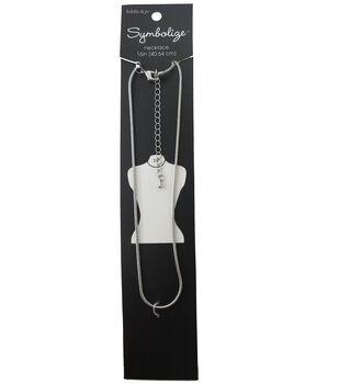 hildie & jo Symbolize 16'' Snake Silver Necklace