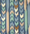 Outdoor Fabric 55\u0022-Aztec Stripe Blue