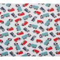 Novelty Cotton Fabric-Trucks on Light Blue