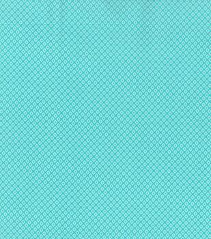Keepsake Calico Cotton Fabric -Diamond Aqua Tonal