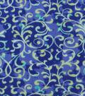 Anti-Pill Fleece Fabric 59\u0022-Mint Vines On Blue