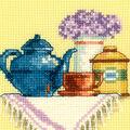 RTO 4\u0027\u0027x4\u0027\u0027 Counted Cross Stitch Kit-A Cup of Tea in the Morning