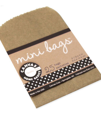 Canvas Corp 25 pk 4''x2.5'' Mini Gift Bags-Kraft