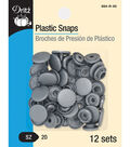 Dritz Plastic Snaps-Round Silver