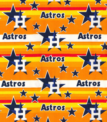 Houston Astros Cotton Fabric -Stripes