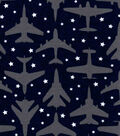 Snuggle Flannel Fabric-Airplane On Navy