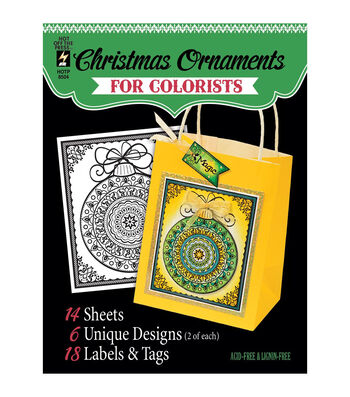 Adult Coloring Book-Hot Off The Press Fancy Christmas