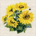 RIOLIS Combopu Cama 15.75\u0027\u0027x15.75\u0027\u0027 Counted Cross Stitch Kit-Sunflowers