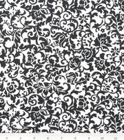 Keepsake Calico Cotton Fabric 43''-Black Scroll Damask, , hi-res