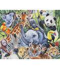 Novelty Cotton Fabric Panel 44\u0022-Jungle Babies