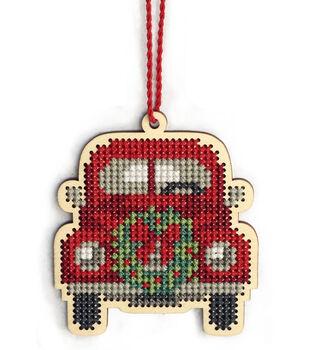 Dimensions Wood Ornament Stitch Kit-Truck