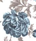 Snuggle Flannel Fabric 42\u0022-Denim Sketched Floral