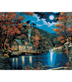 Plaid Paint By Number Kit 16 X20 Lakeside Cabin