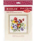 RIOLIS 7.75\u0027\u0027x7.75\u0027\u0027 Counted Cross Stitch Kit-Pansy Medley