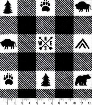 Nursery Flannel Fabric-Boone Buffalo Checks