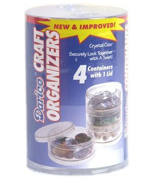 Darice Craft Keepers Round Mini-Stackable Organizer