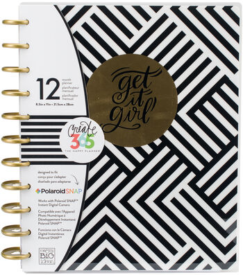 The Happy Planner 12-Month Undated Planner-Black & White