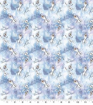 Disney Frozen 2 Cotton Fabric-Olaf Ice Breaker