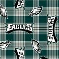 Philadelphia Eagles Fleece Fabric -Plaids